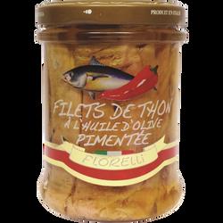 Filet thon Huile d'Olive piment FLORELLI, 200g