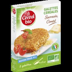Galettes de céréales au sarrasin et au comté CEREAL BIO, 200g