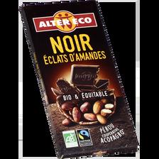 Chocolat noir bio aux amandes ALTER ECO, tablette de 100g