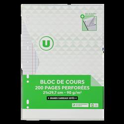 Bloc de feuilles simples détachables U 21x29,7cm, SEYES, 100 pages + 40 gratuites