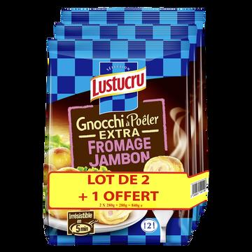 Lustucru Gnocchi À Poêler Extra Fromage Jambon Lustucru, 2x280g + 1 Offerte