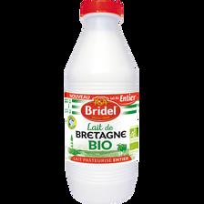 Lait bio pasteurisé entier BRIDEL, 1 litre