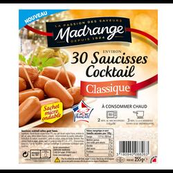 Saucisses cocktail vpf cuites goût fumé MADRANGE x50 425g