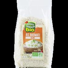 Riz basmati blanc bio TERRE ET CEREALES, sachet de 500g
