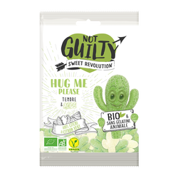 Bonbons hug me please litchi citron vert sans gélatine animale NOT GUILTY sweet révolution, sachet 100g