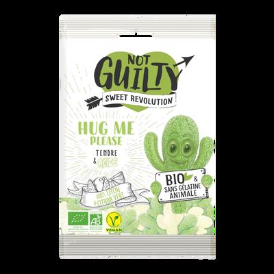 Bonbons hug me please litchi citron vert sans gélatine animale NOT GUILTY sweet révolution, sachet 100g
