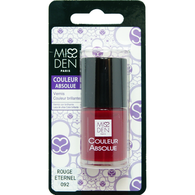 Vernis couleur rouge eternel, MISS DEN