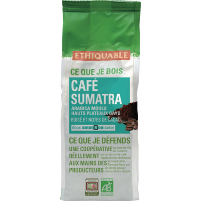 Café moulu sumatra bio ETHIQUABLE, 250g