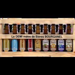 Demi-mètre de bois BOURGANEL, 9 bouteilles de 33cl