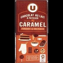 Chocolat au lait à patisser caramel, U, 180g
