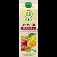 Pur jus multifruits pasteurisé U BIO, bouteille de 1l