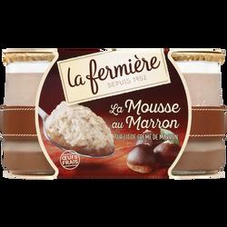 Mousse au marron LA FERMIERE, 2x100g