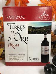 IGP Pays d'Oc - Cave de Roquebrun - Terres d'Orb - Rouge 3L
