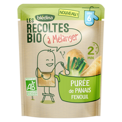 Purée de Panais et Fenouil Les Recoltes Bio dès 6 mois, 120g