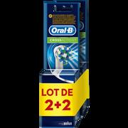 Oral B Brossettes De Rechange Pour Brosse À Dents Électrique Rechargeable Cross Action Oral B, 2 Paquets De 2 Recharges