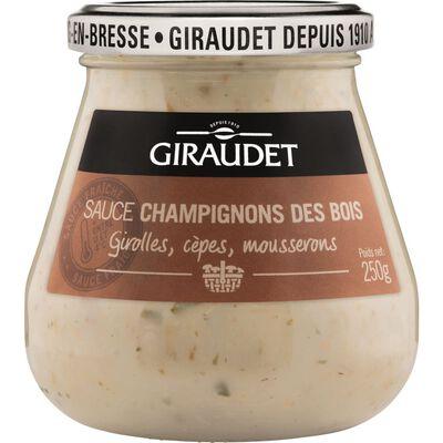 Sauce champignons des bois GIRAUDET, bocal de 250g