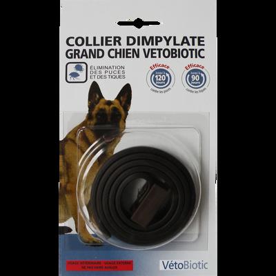 Collier dimpylate noir grand chien, VETOBIOTIC, 41g