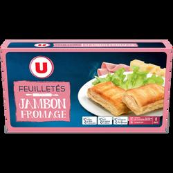 Feuilleté jambon fromage U, 8x65g soit 520g