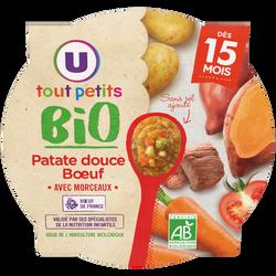 Assiette de patate douce et boeuf Tout Petits Bio U dès 15 mois, 250g