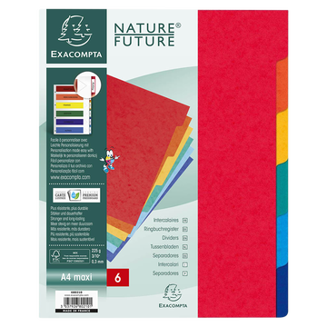 Clairefontaine Intercalaires Exacompta, Extra Large 23x29,7cm,12 Positions