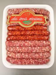 Plateau barbecue Panachés, 3 RIVIERES, Origine France et UE, 10 pièces, Barquette, 600g