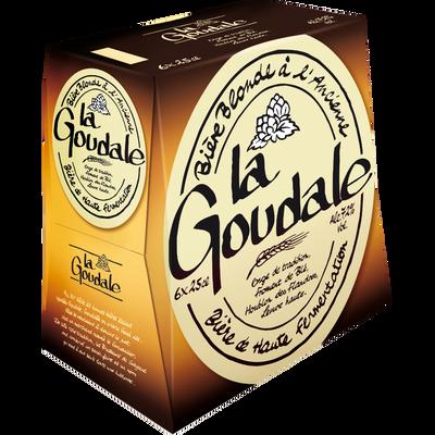 Bière blonde à l'ancienne LA GOUDALE, 7,2°, 6x25cl