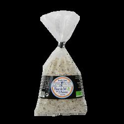 Fleur de sel 2 poivres BIO CROQUE AU SEL, sachet de 200g