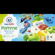 Gourdes pomme sans sucres ajoutés U MAT & LOU, 20x90g