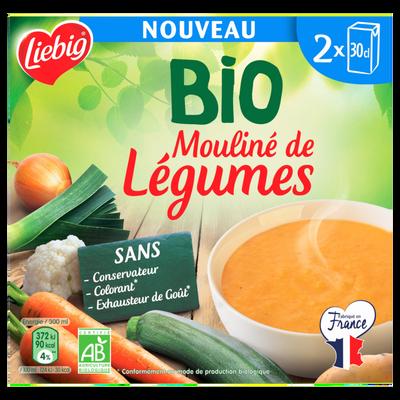 Soupe mouliné de légumes bio LIEBIG, briques 2x30cl