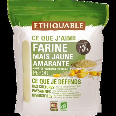 farine maïs jaune amarante pérou bio ETHIQUABLE, 400g