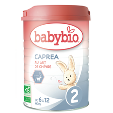Lait de chèvre pour nourrissons caprea, BABYBIO, de 6 à 12 mois, 900g
