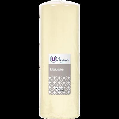 Bougie U MAISON, non parfumée, 68x195mm, ivoire