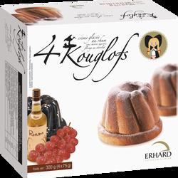 Kouglof rhum-raisins ERHARD, x4  soit 300g