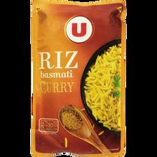 Riz basmati au curry micro-ondable U, sachet de 400g