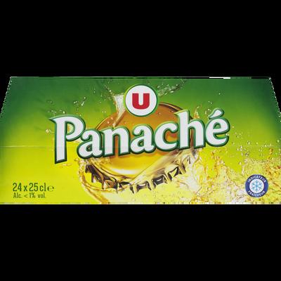Panaché - mélange de boisson gazeuse aromatisée et de bière 24 x 25 clContient moins de 0,7 % vol