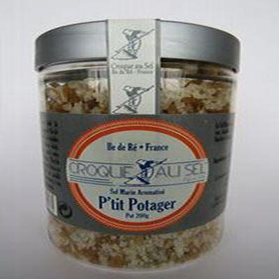 Sel marin aromatisé p'tit potager, pot 200gr, Croque au sel