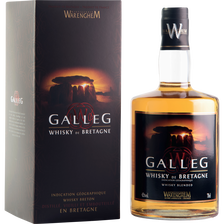 Whisky blended de Bretagne, GALLEG WARENGHEM, 42°, bouteille de 70cl +étui