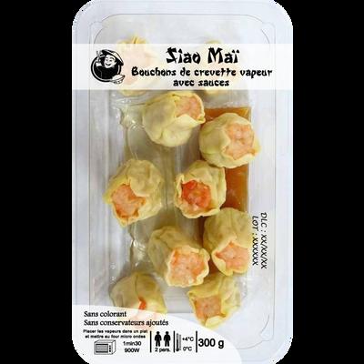 Bouchons de crevette (Siao Maï) à la vapeur + sauce DELICES D'ORIENT,300g