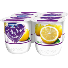 Spécialité laitière aux fruits avec édulcorants citron 0% TAILLEFINE,4x125g
