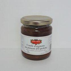 Confit d'oignons au piment d'Espelette ERIC BUR pot 220g