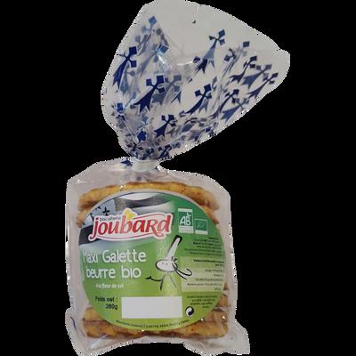 Maxi galette beurre bio à la fleur de sel, sachet de 260g