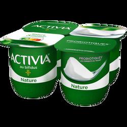 Lait fermenté nature au bifidus ACTIVIA, 4x125g