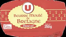 Beurre moulé de Bretagne demi-sel 80% MG U 250G