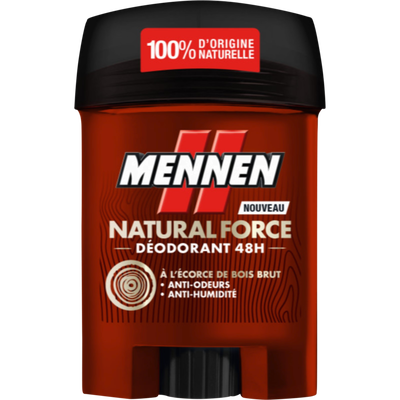 Déodorant natural force 24h MENNEN stick 50ml