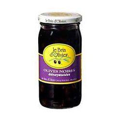 Olives noires dénoyautées LE BRIN D'OLIVIER, 210g