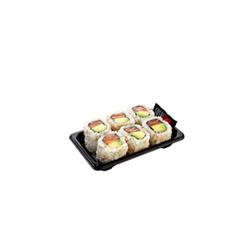 Maki california 138g (saumon,avocat,riz,feuille d'algue,