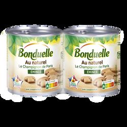 Champignons émincés au naturel BONDUELLE, 2 boîtes de 230g - Super U, Hyper U, U Express