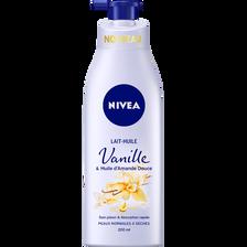 Lait huile vanille et huile d'amande douce NIVEA BODY, flacon de 200ml