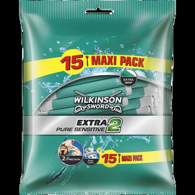 Rasoirs masculin jetables Extra II Pure Sensitive WILKINSON, x15