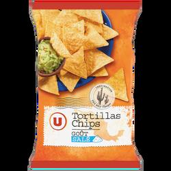 Tortillas chips goût salé U, sachet de 300g